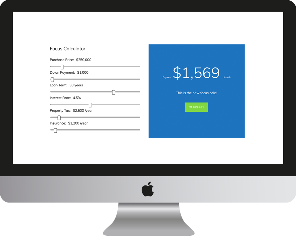 WPrequal Focus Mortgage Calculator