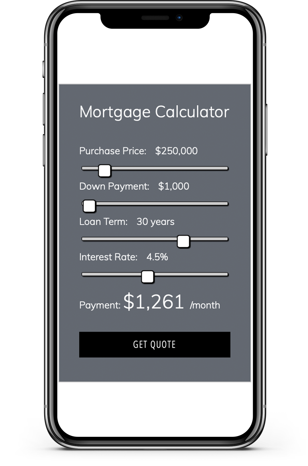 WPrequal Small Mortgage Calculator